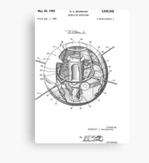 Spherical Satellite Structure patent 1957 Canvas Print