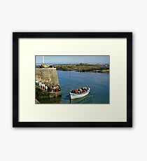 Farne Island Boat trips, Northumberland, UK 1980s Framed Print