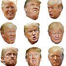 Trump Heads by mavisshelton