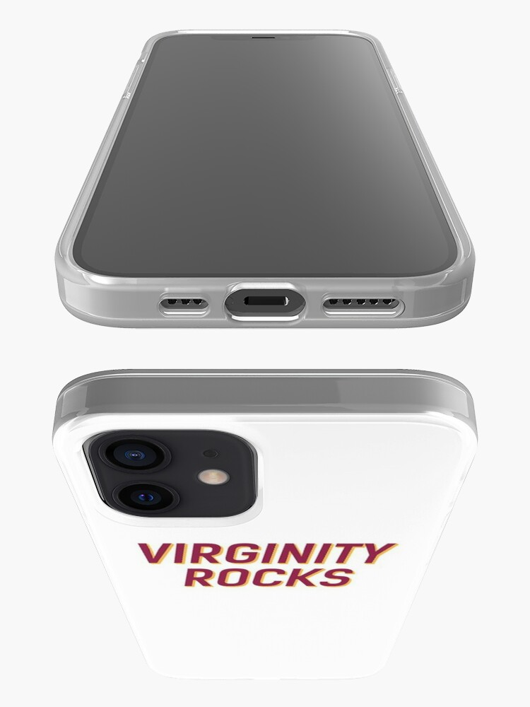 Alternate view of Virginity Rocks White or Black iPhone Case & Cover