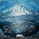 Mt Fuji After A Snow Fall by towncrier