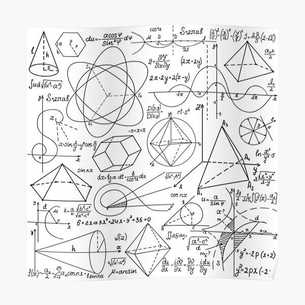 Math Equations #Math #Equations #MathEquations Poster