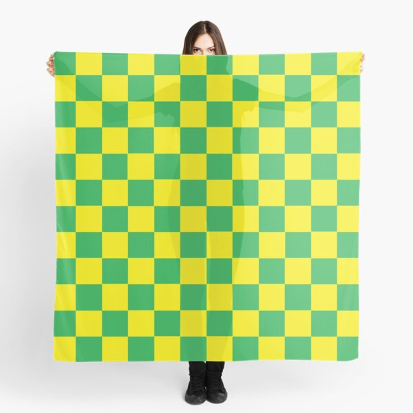 Checkered Green and Yellow  Scarf