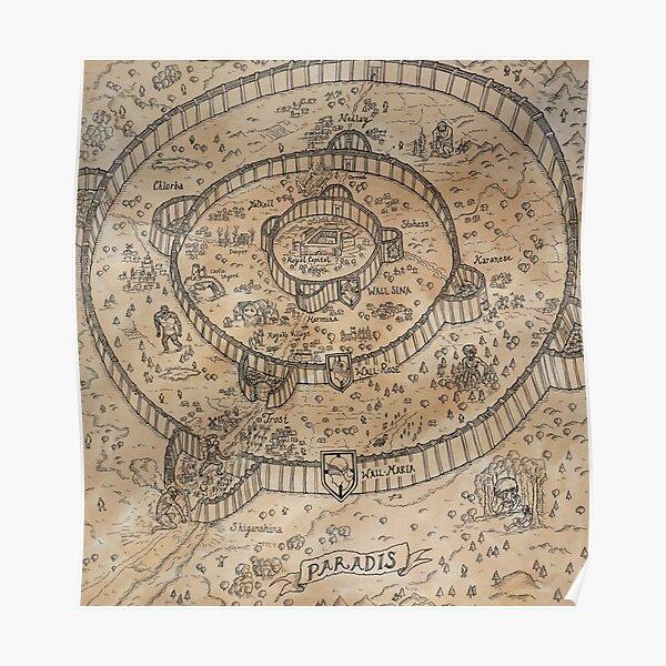 Mapa Paradis Póster