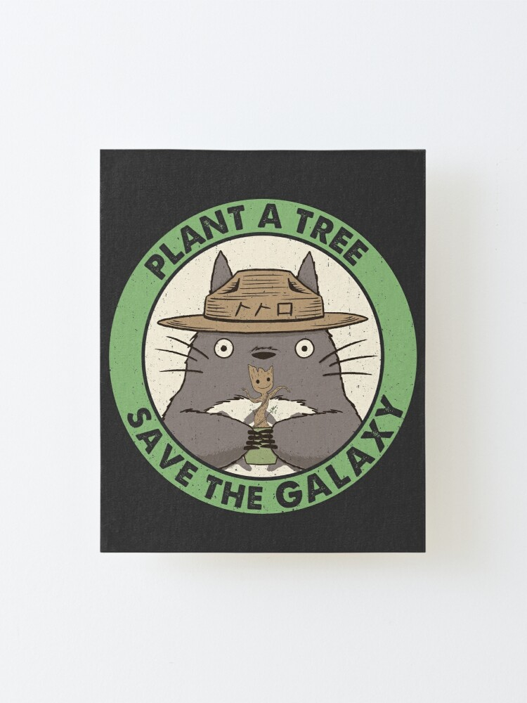 Alternate view of Save the Galaxy Mounted Print