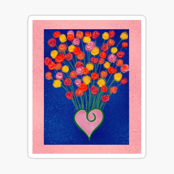 Flowers and love Sticker