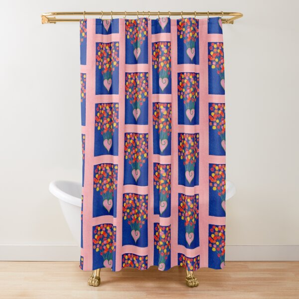 Flowers and love Shower Curtain