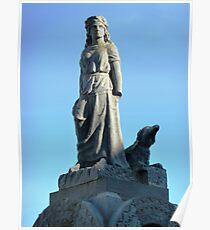 Maid of Erin Monument, Kilrush, Ireland. Poster