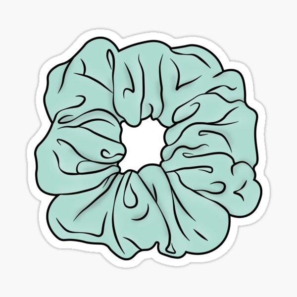Mint Scrunchie Sticker