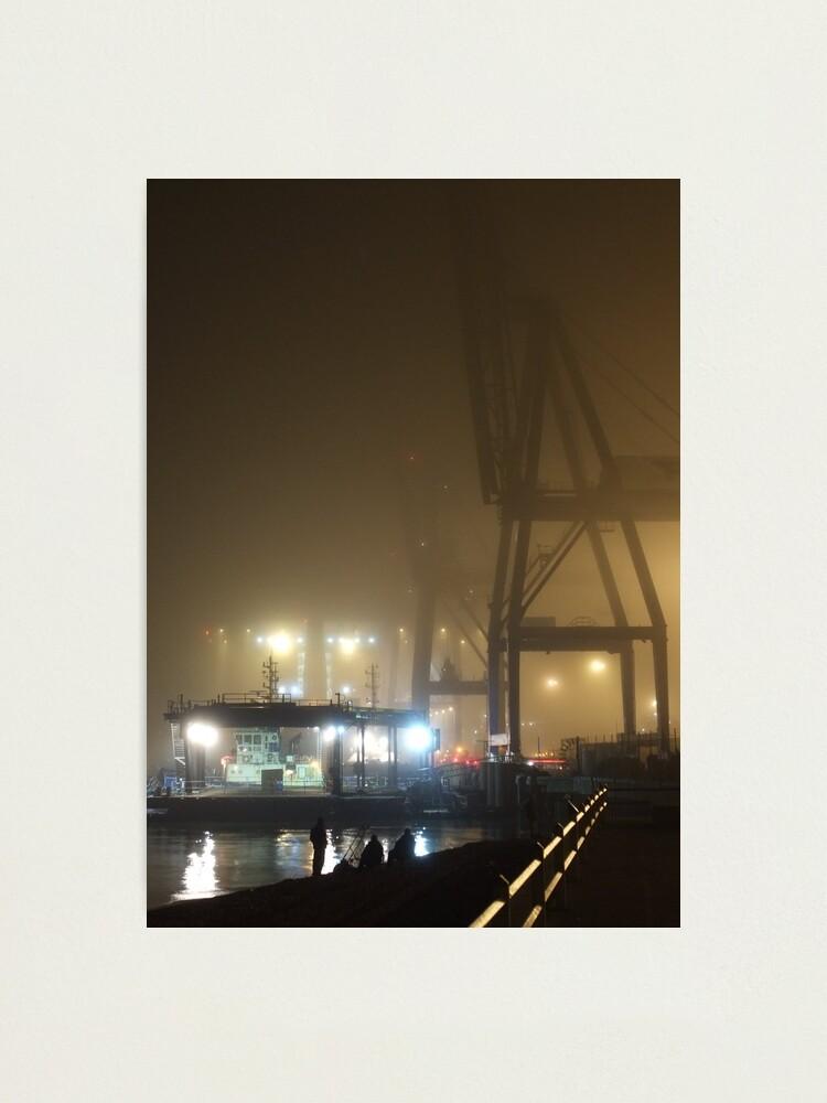 Alternate view of Felixstowe Docks at Night Photographic Print