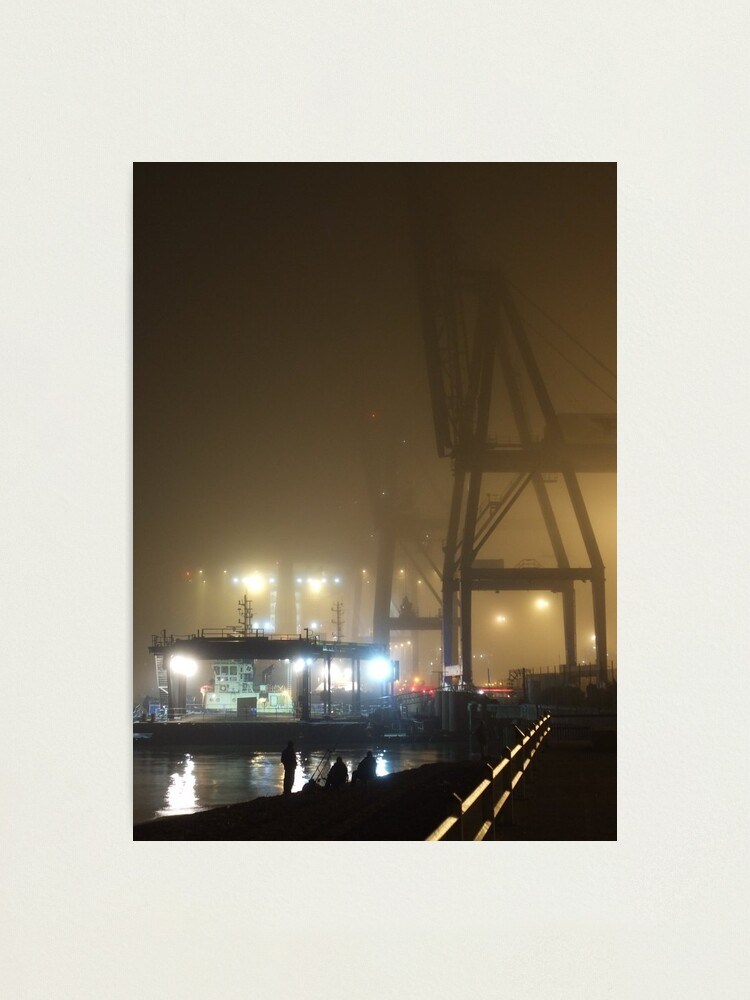 Alternate view of Felixstowe Docks at Night Photographic Print