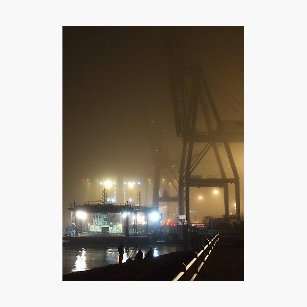 Felixstowe Docks at Night Photographic Print