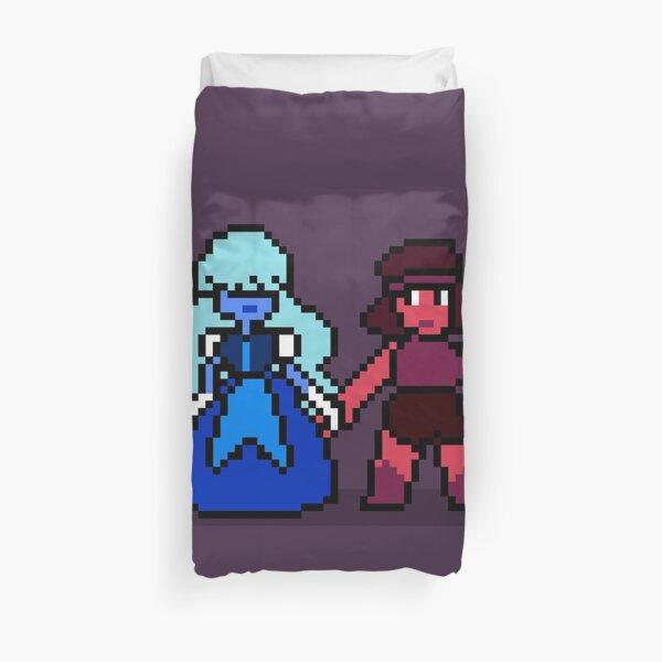 Pixel Ruby & Sapphire Duvet Cover