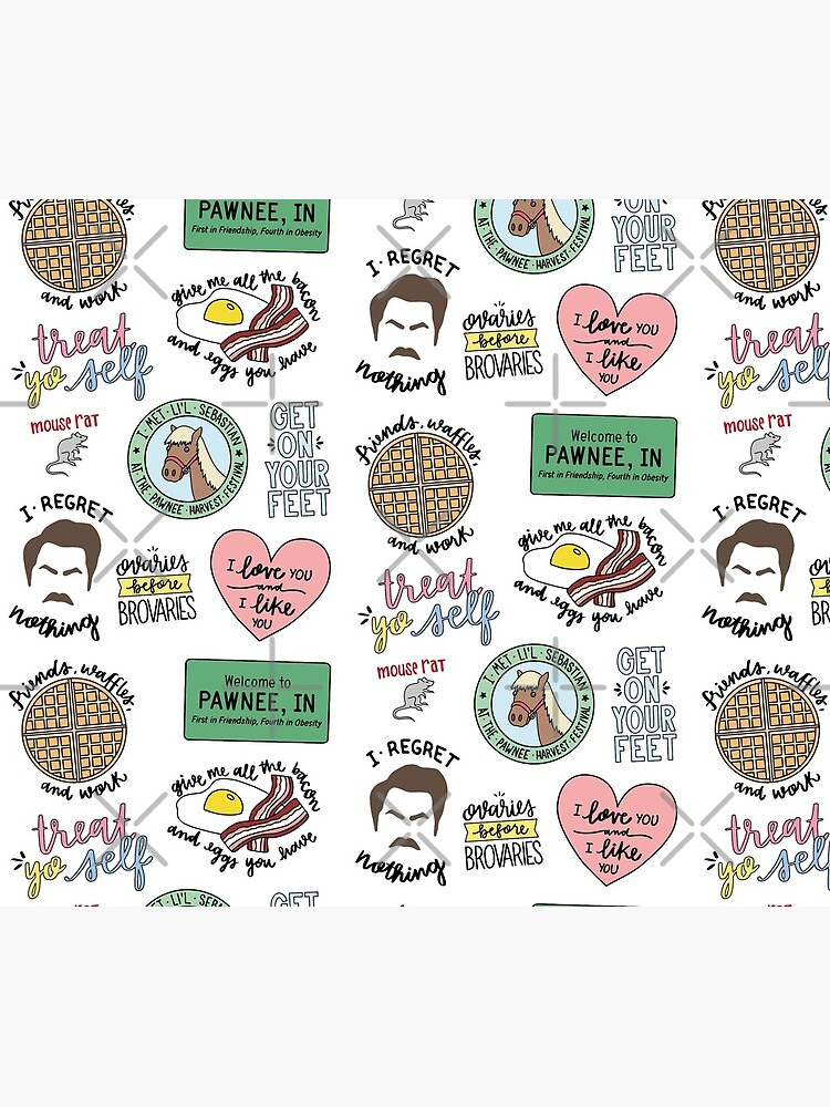 Parks and Recreation TV Show Art by lettersofjoy