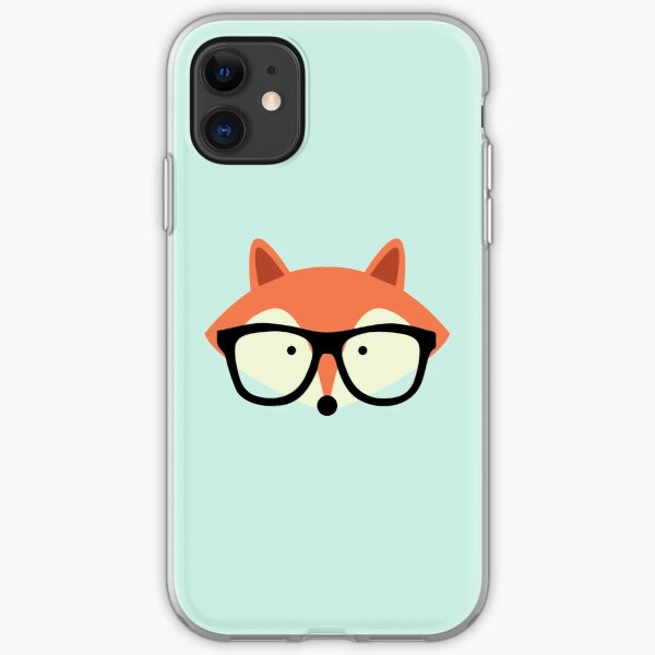 Hipster Red Fox iPhone Soft Case