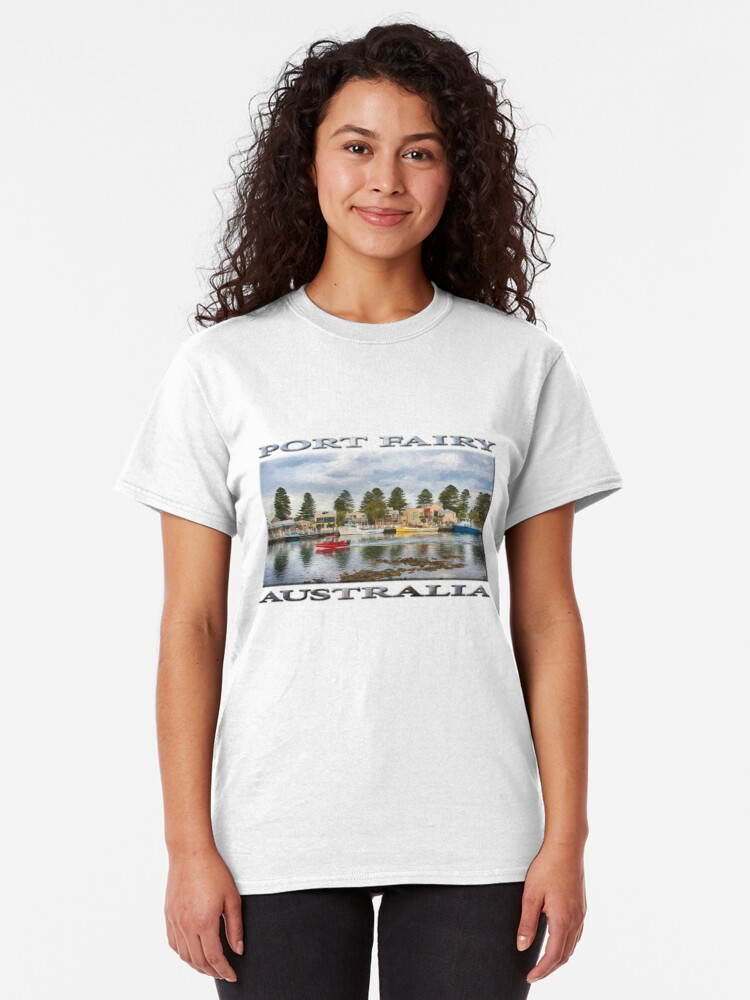Alternate view of Port Fairy Rush Hour  (digital painting - poster edition) Classic T-Shirt