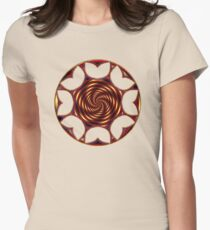 Red Golden Tulips Womens Fitted T-Shirt