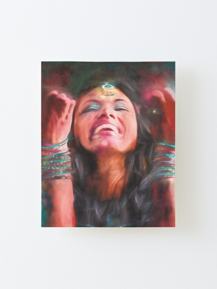 Alternate view of Dancer in Motion   (digital painting)      Mounted Print