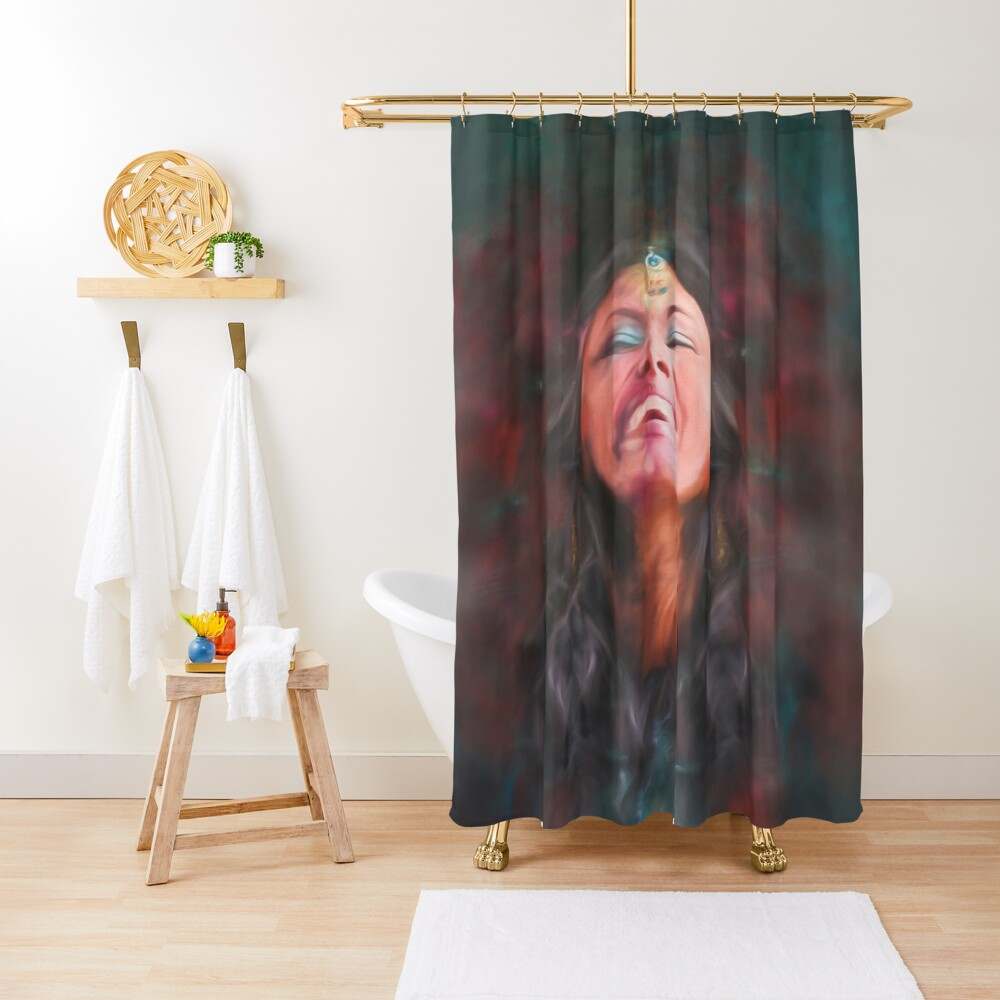 Dancer in Darkness  (digital painting)      Shower Curtain