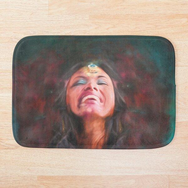 Dancer in Darkness  (digital painting)      Bath Mat