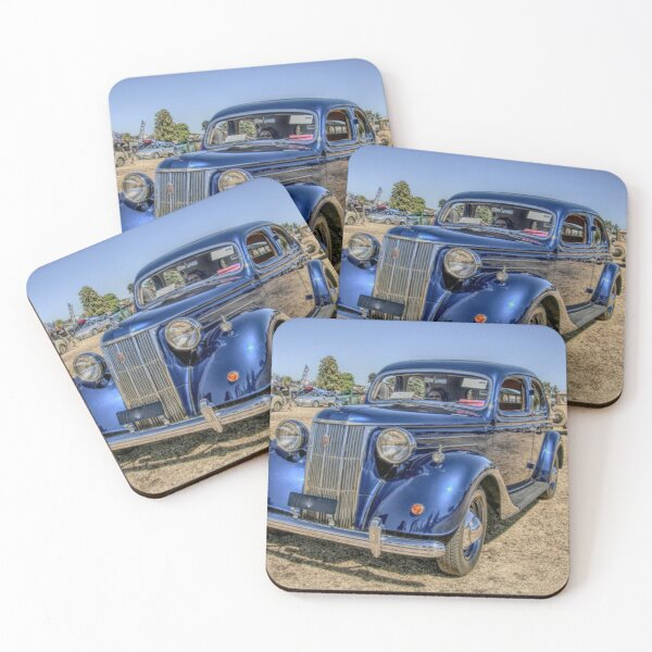 Ford V8 Pilot Coasters (Set of 4)