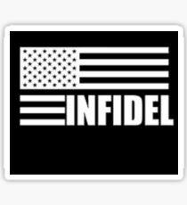 American Infidel (Black) Sticker