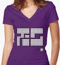 Splatoon Inspired: Octo Tee(Cuttlegear tag) Women's Fitted V-Neck T-Shirt