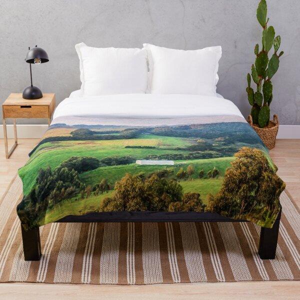 Dream Valley (digital painting) Throw Blanket