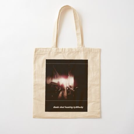 Train shed Ghost Cotton Tote Bag