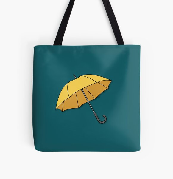 Yellow Umbrella  All Over Print Tote Bag