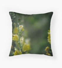 Yellow Toadflax Throw Pillow