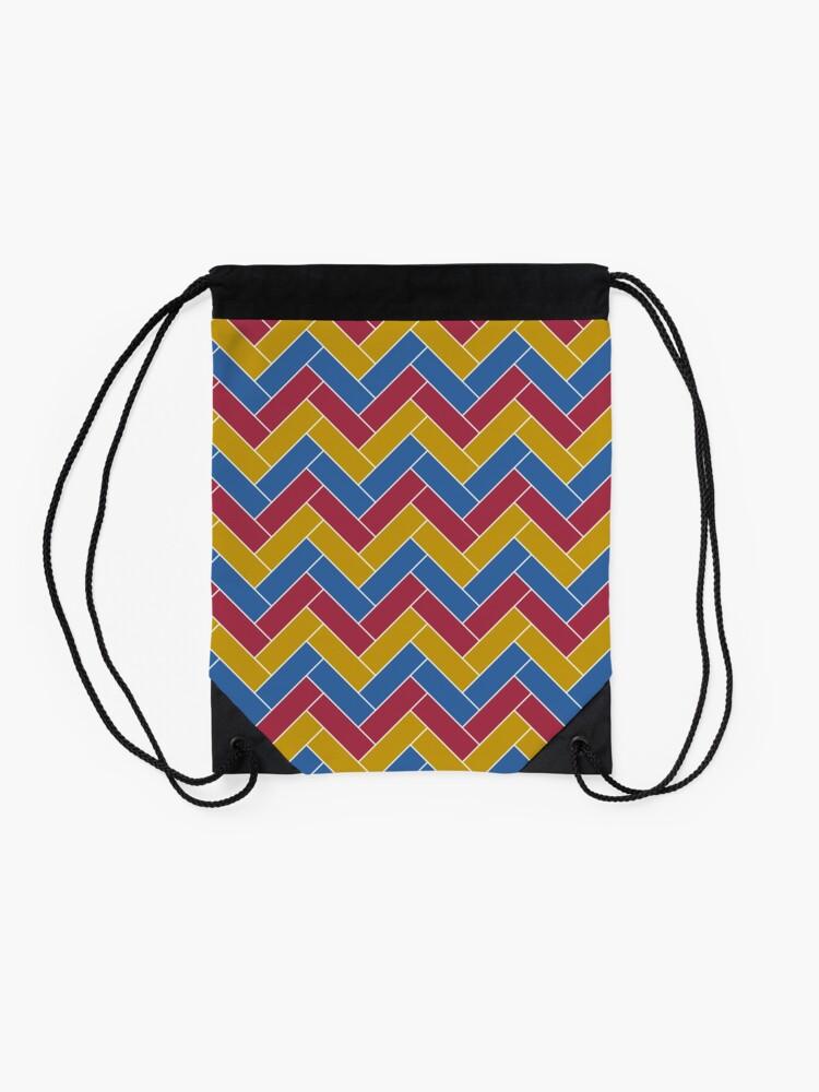 Alternate view of Geometric Pattern: Herringbone: Summer Drawstring Bag