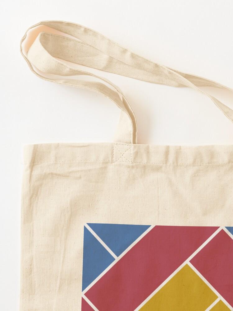 Alternate view of Geometric Pattern: Herringbone: Summer Tote Bag