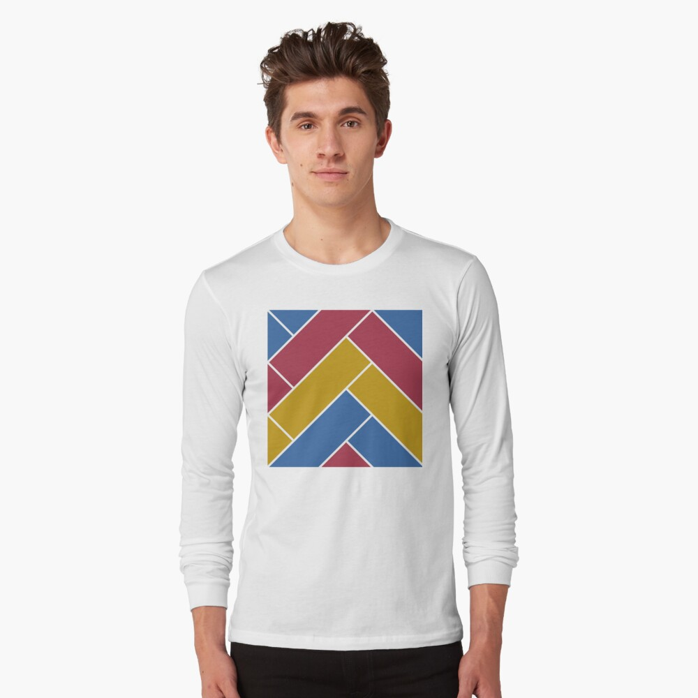 Geometric Pattern: Herringbone: Summer Long Sleeve T-Shirt