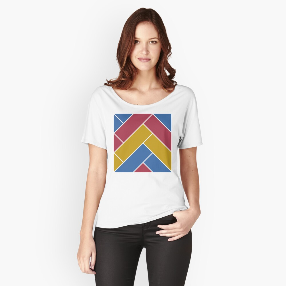 Geometric Pattern: Herringbone: Summer Relaxed Fit T-Shirt