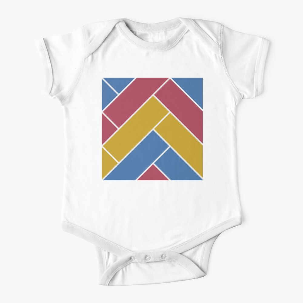 Geometric Pattern: Herringbone: Summer Baby One-Piece