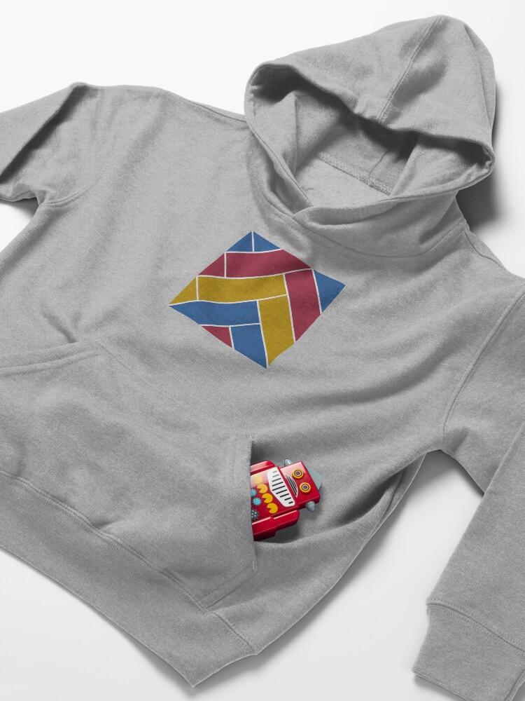 Alternate view of Geometric Pattern: Herringbone: Summer Kids Pullover Hoodie