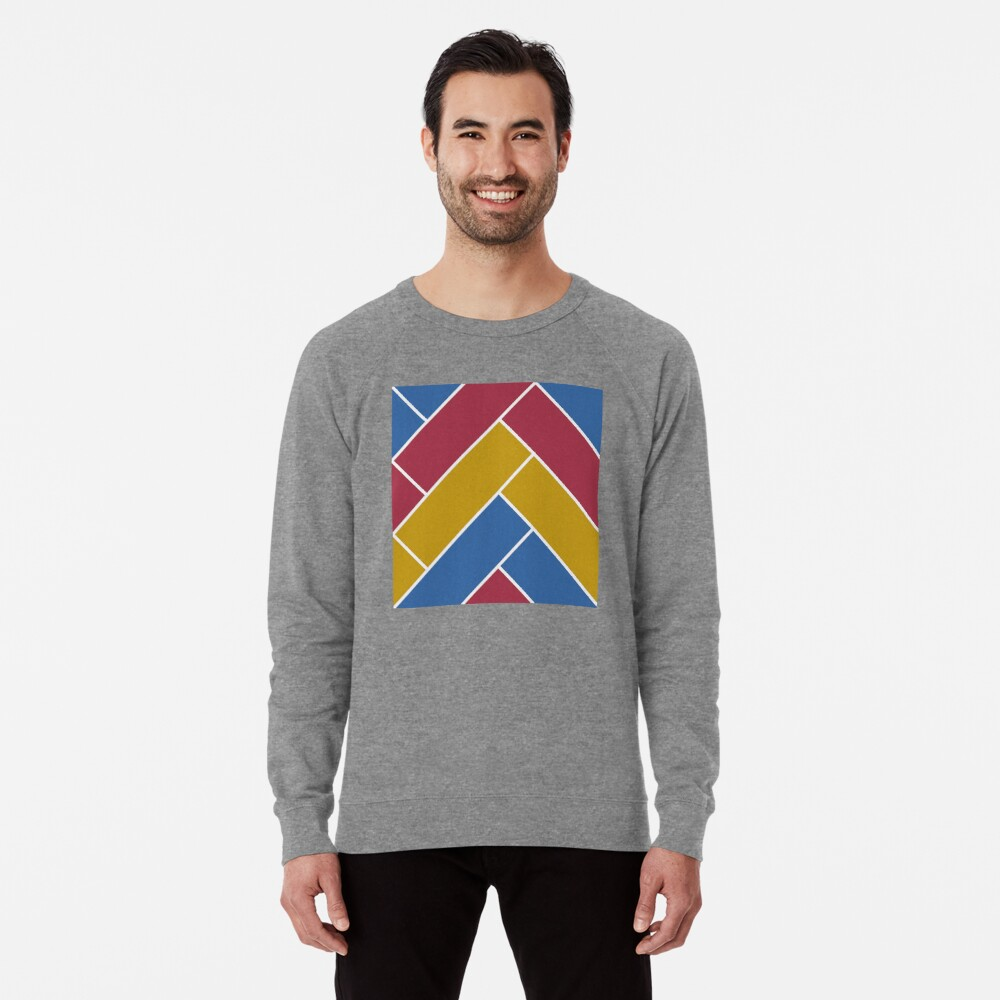 Geometric Pattern: Herringbone: Summer Lightweight Sweatshirt