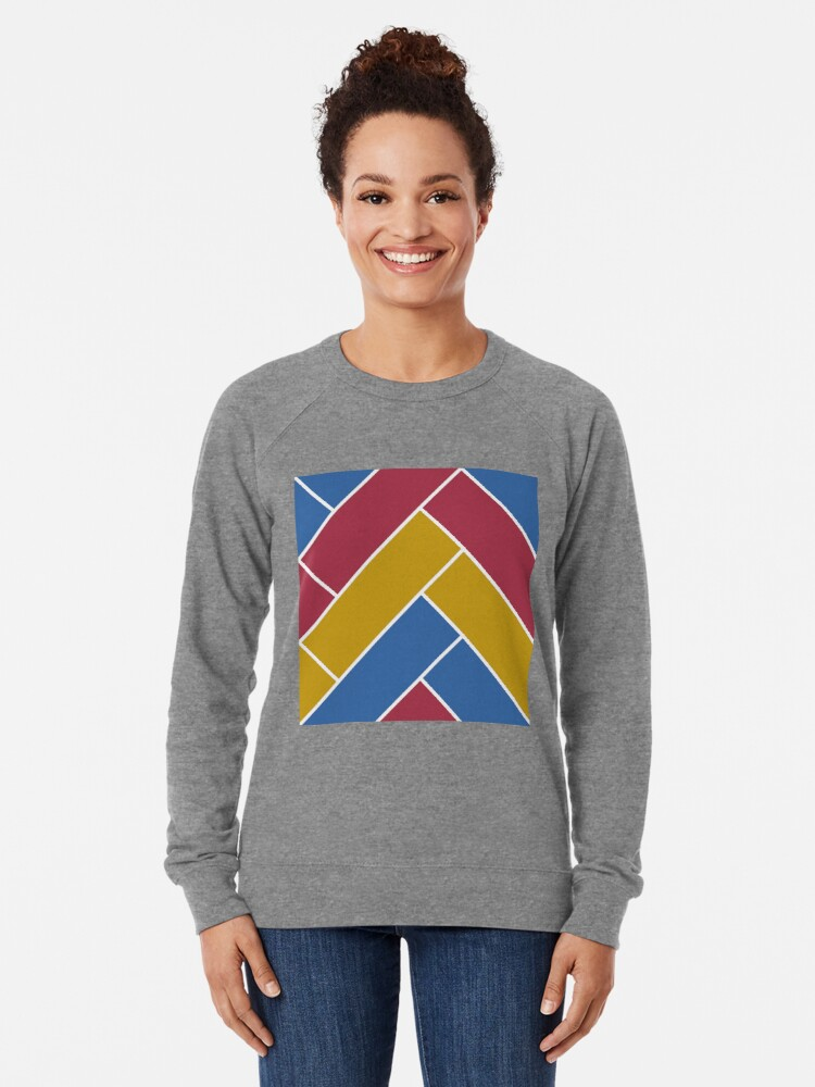Alternate view of Geometric Pattern: Herringbone: Summer Lightweight Sweatshirt