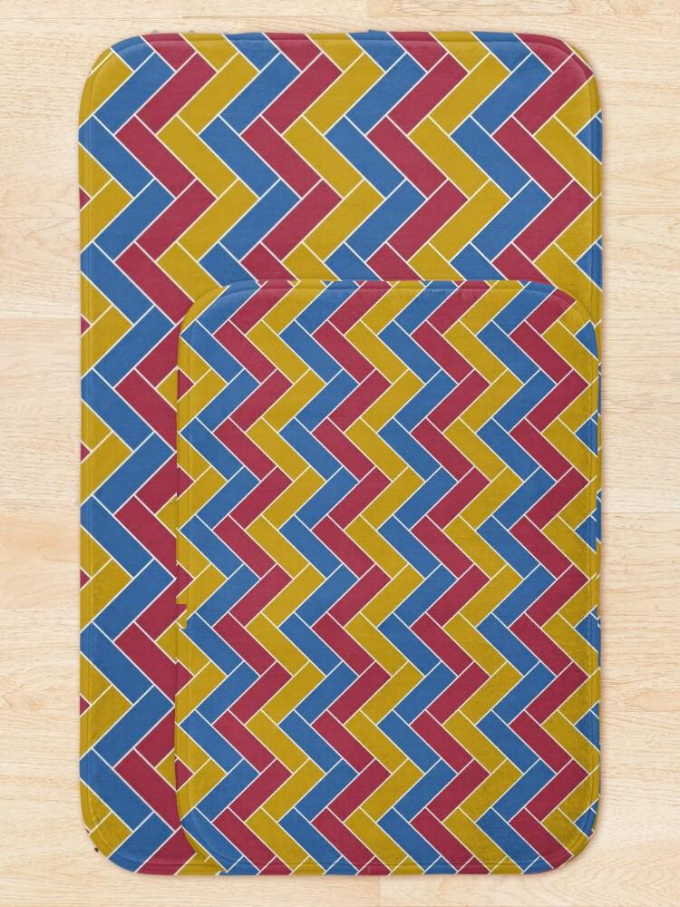 Alternate view of Geometric Pattern: Herringbone: Summer Bath Mat