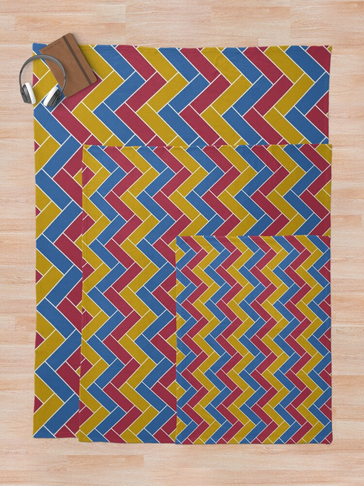 Alternate view of Geometric Pattern: Herringbone: Summer Throw Blanket