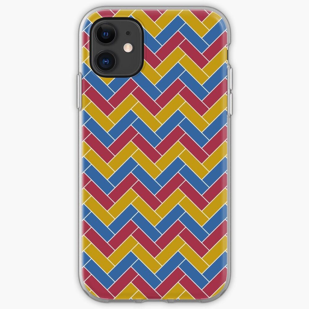 Geometric Pattern: Herringbone: Summer iPhone Case & Cover