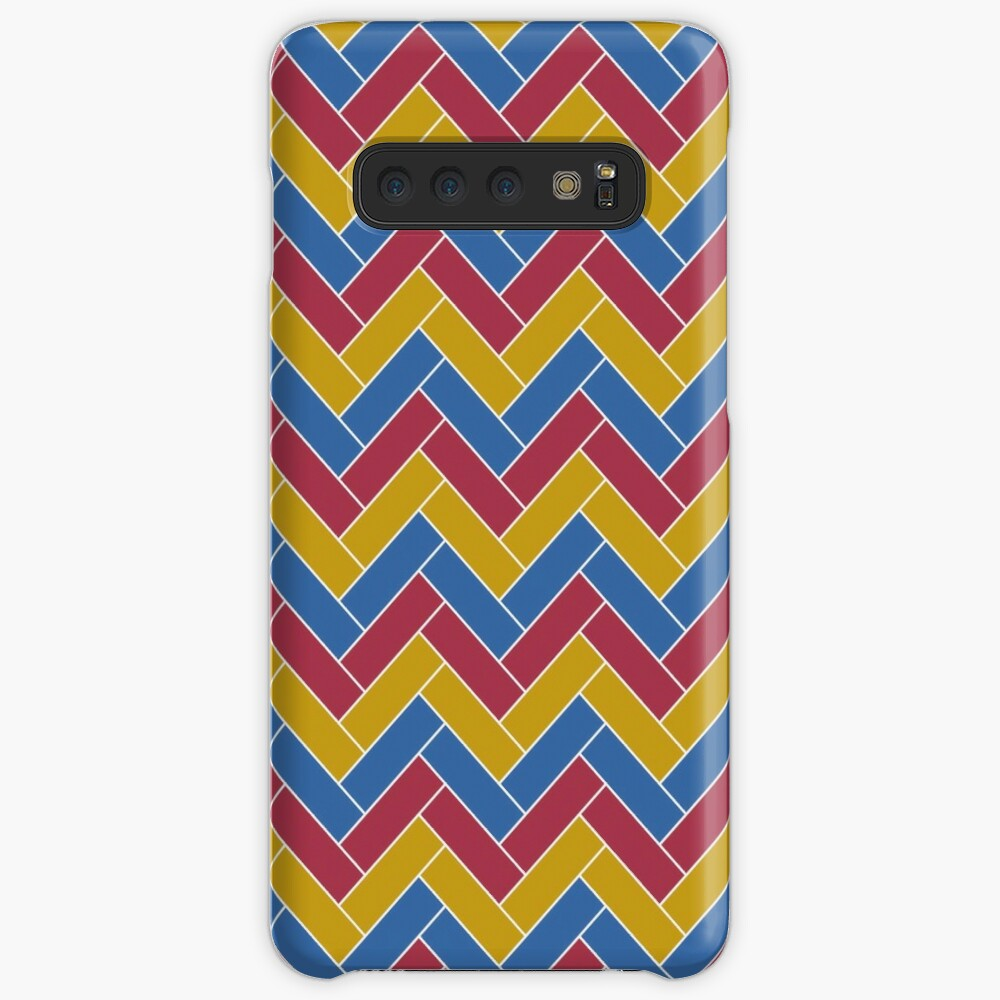 Geometric Pattern: Herringbone: Summer Case & Skin for Samsung Galaxy