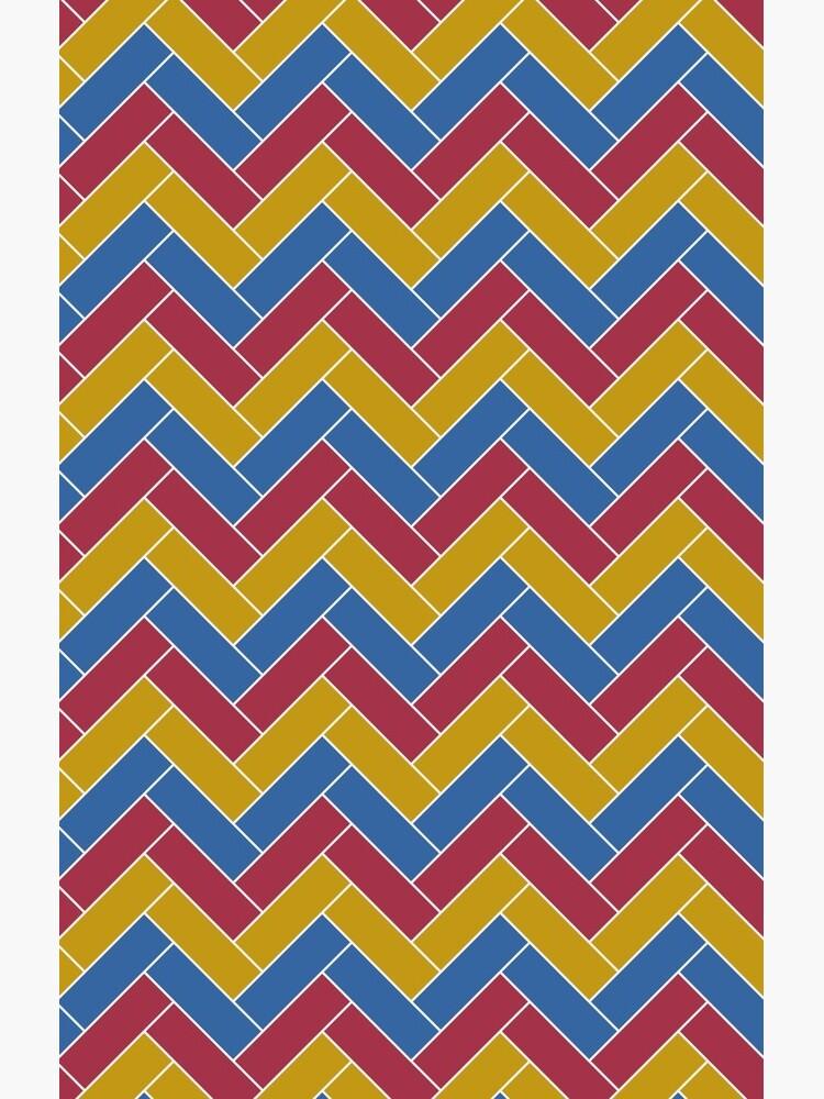 Geometric Pattern: Herringbone: Summer by redwolfoz