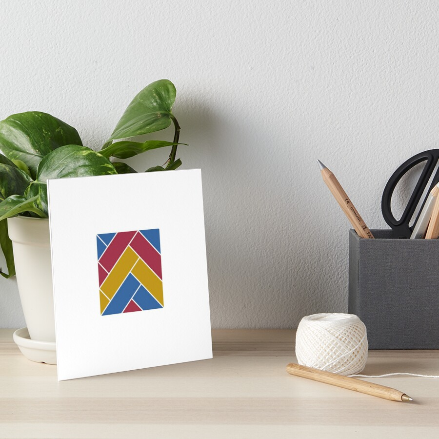 Geometric Pattern: Herringbone: Summer Art Board Print