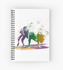 Bison in a colour storm Spiral Notebook