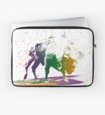 Bison in a colour storm Laptop Sleeve