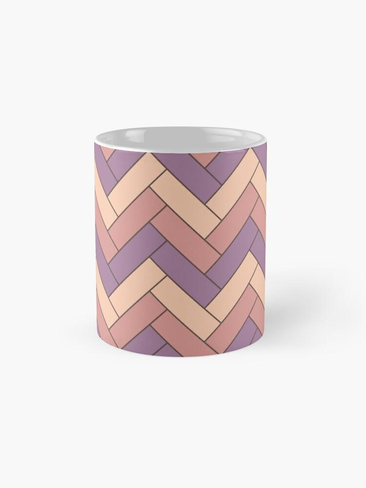 Alternate view of Geometric Pattern: Herringbone: Autumn Mug