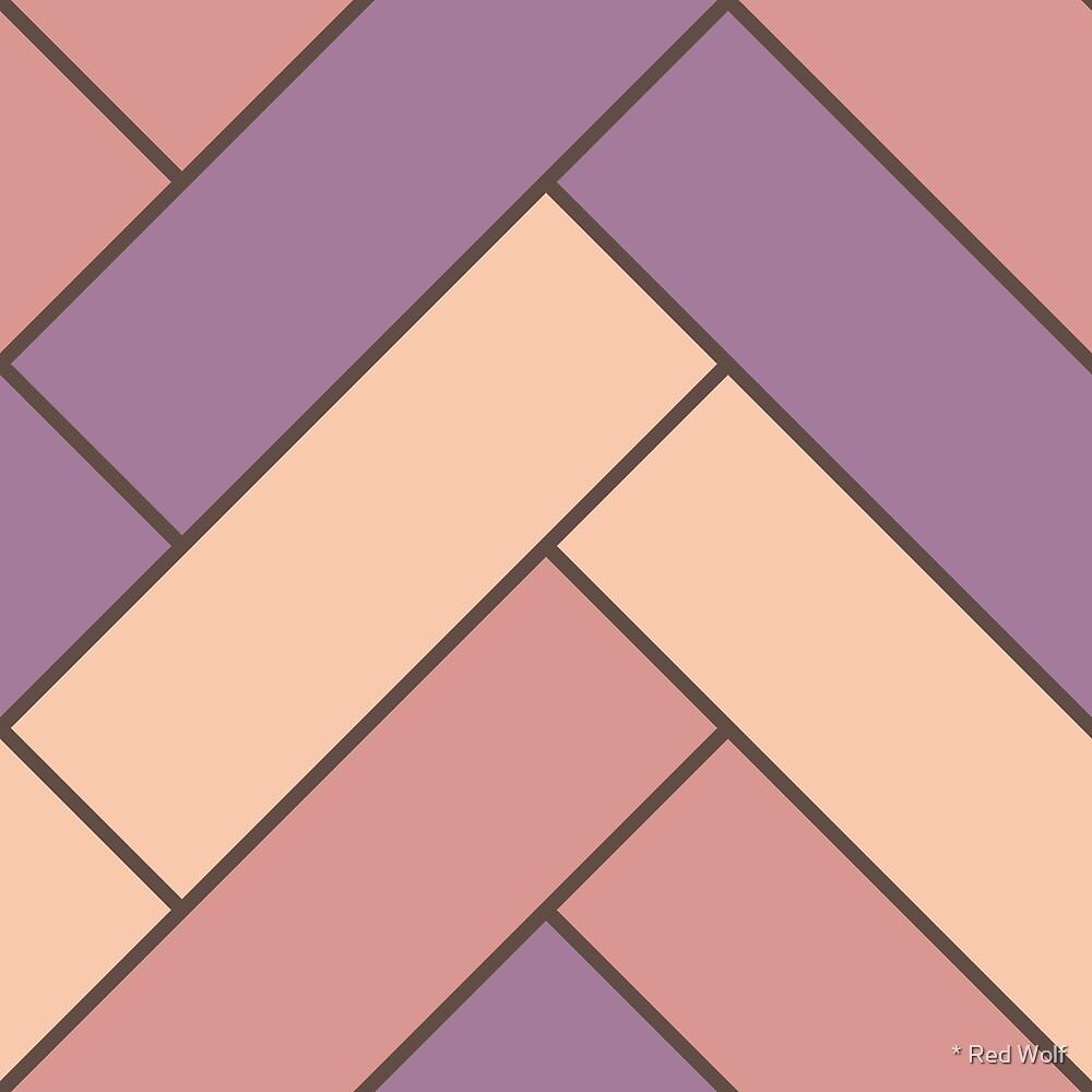 Geometric Pattern: Herringbone: Autumn by * Red Wolf