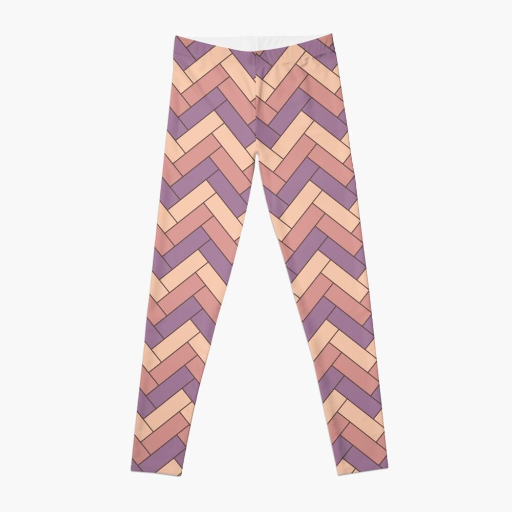 Geometric Pattern: Herringbone: Autumn Leggings